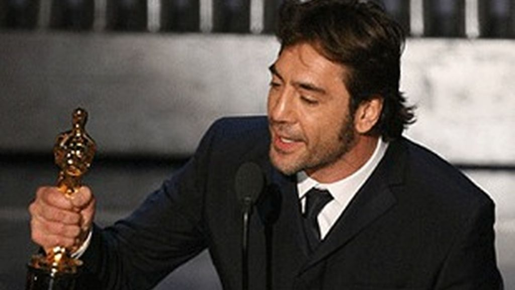 Javier Bardem, el año pasado, con su Oscar al mejor secundario.