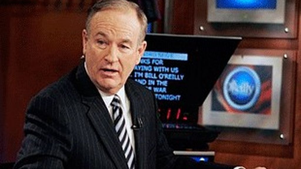 Bill O'Reilly, líder de la audiencia nocturna de Fox.