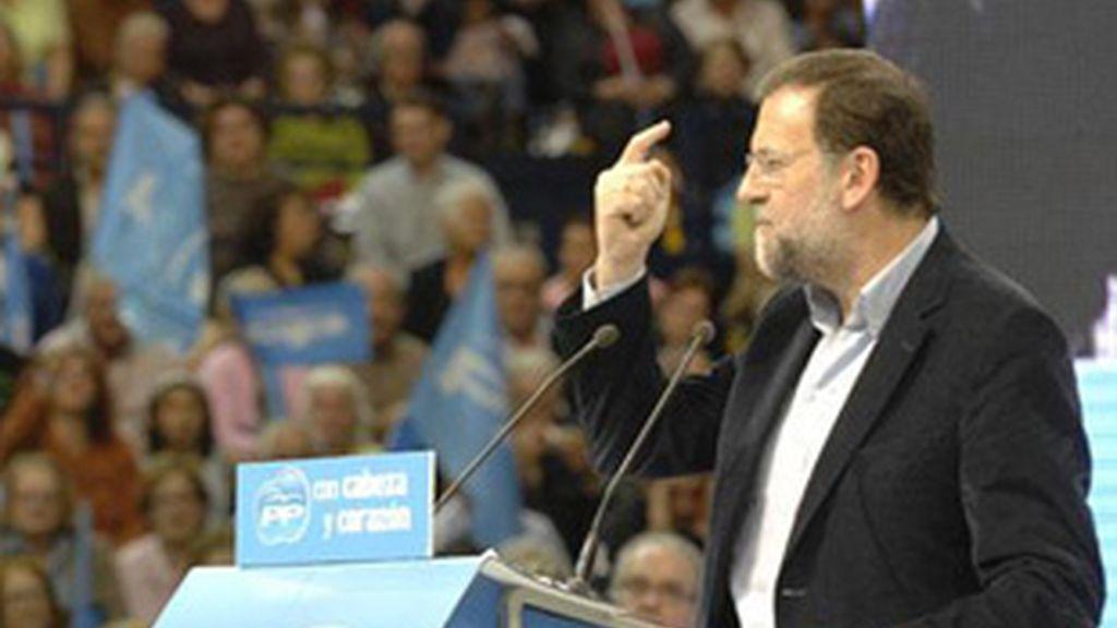 Mitin de Mariano Rajoy, presidente del Partido Popular.