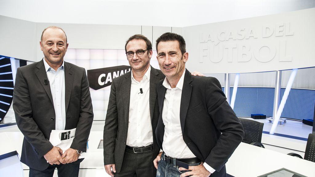 Nacho Aranda, Alex Martínez Roig y Carlos Martínez, equipo de deportes de Canal+