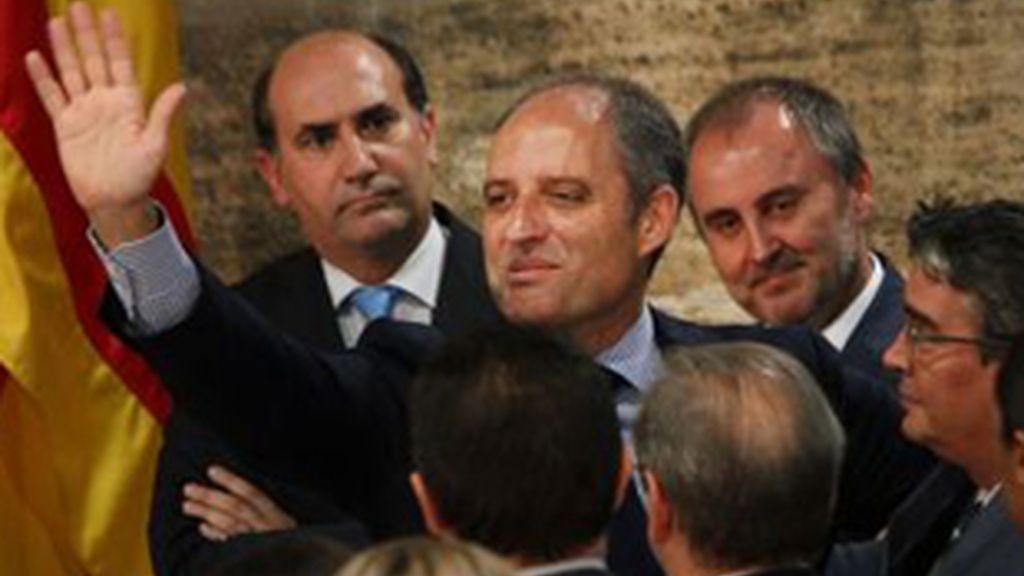 Francisco Camps, después de anunciar su dimisión.