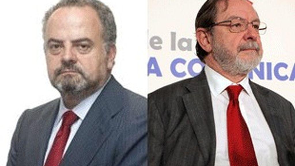 De izquierda a derecha, Ignacio Polanco y Juan Luis Cebrián.