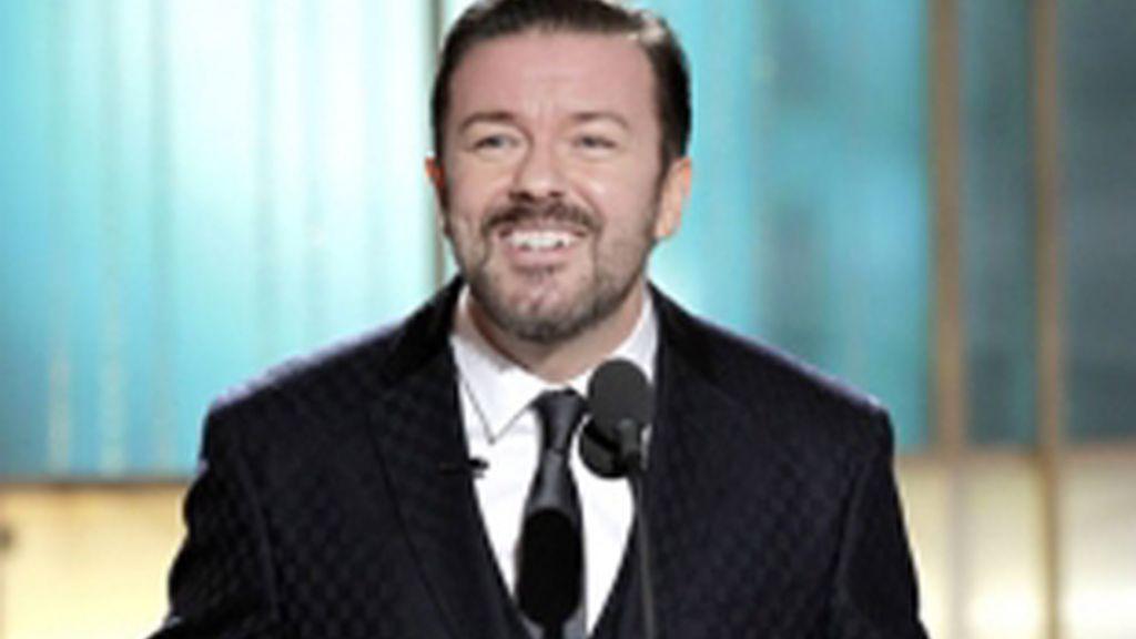 Ricky Gervais presentando los Globos de Oro 2011.