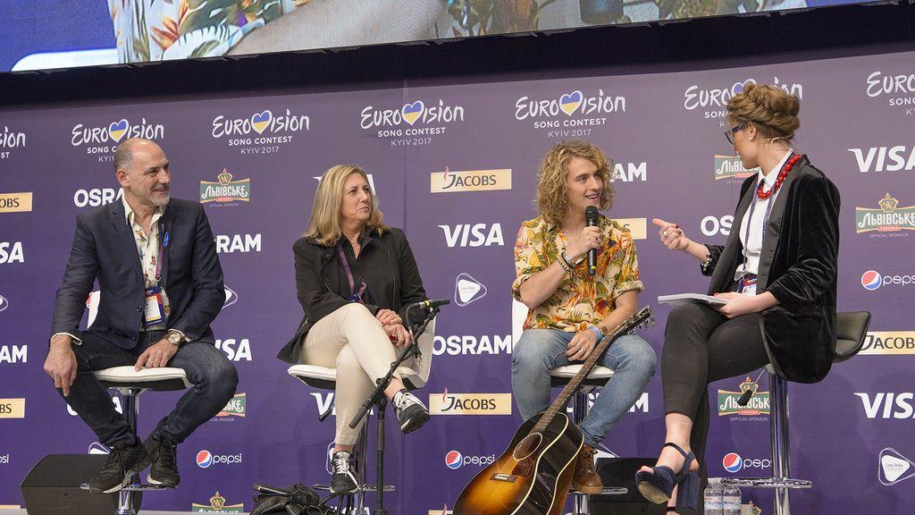 Manel Navarro - primer ensayo Eurovisión 2017 en Kiev