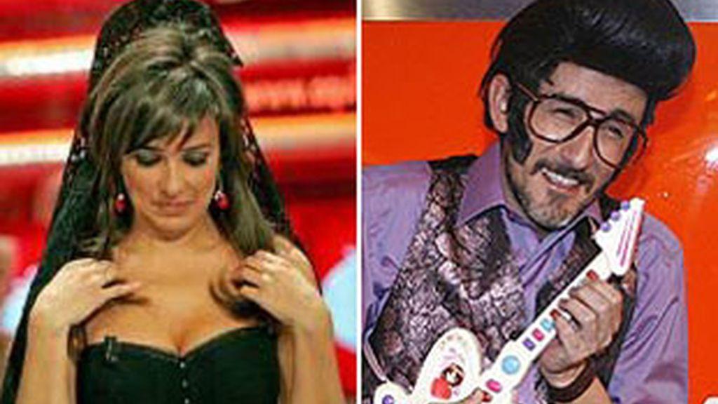 Carmen Alcayde en el último program de 'Aqui hay tomate' y Chiquilicuatre en Eurovisión.