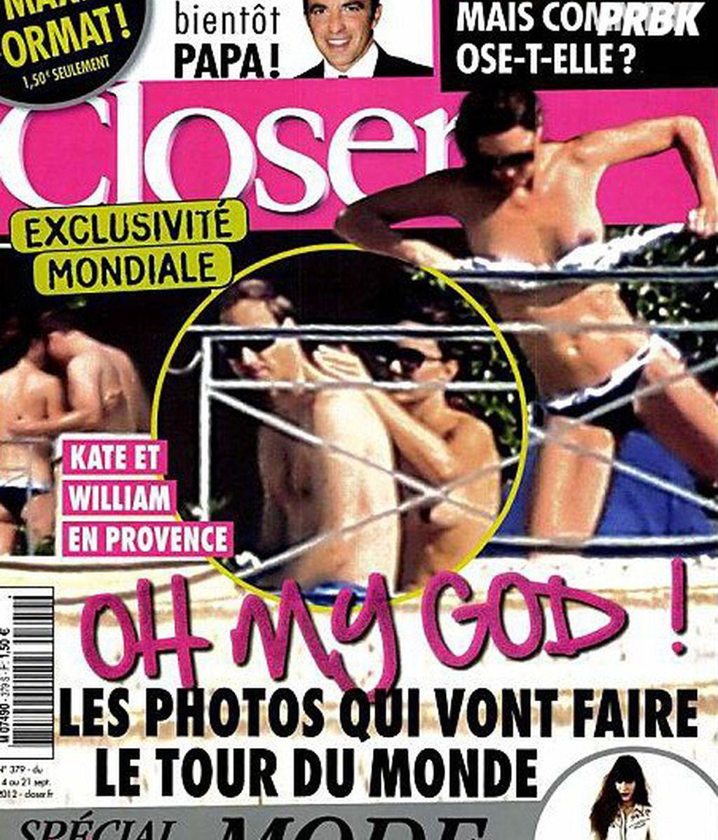 Portada de la revista francesa 'Closer' en la que aparece Kate Middleton haciendo 'topless'