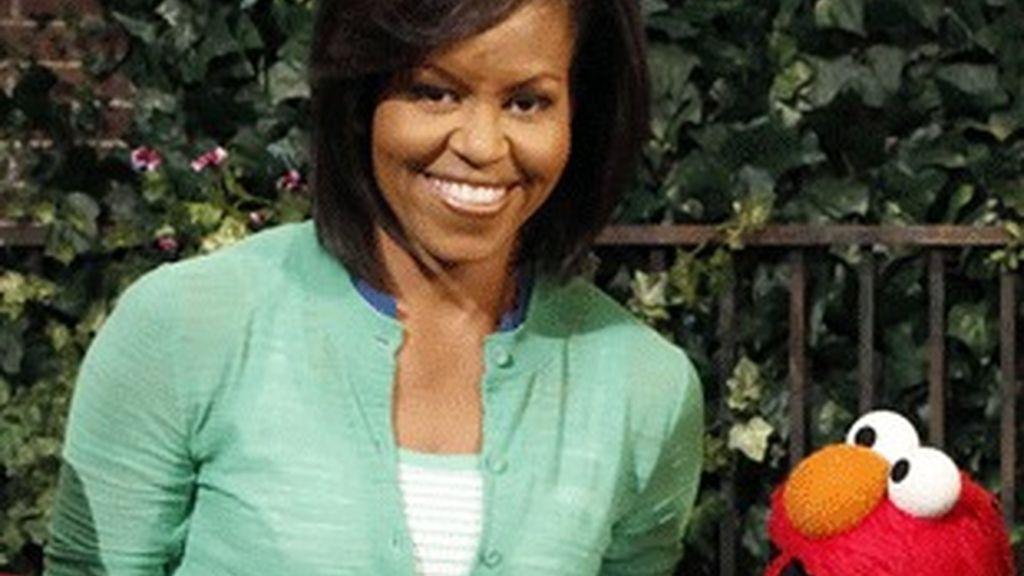 Michelle Obama, en 'Barrio Sésamo'.