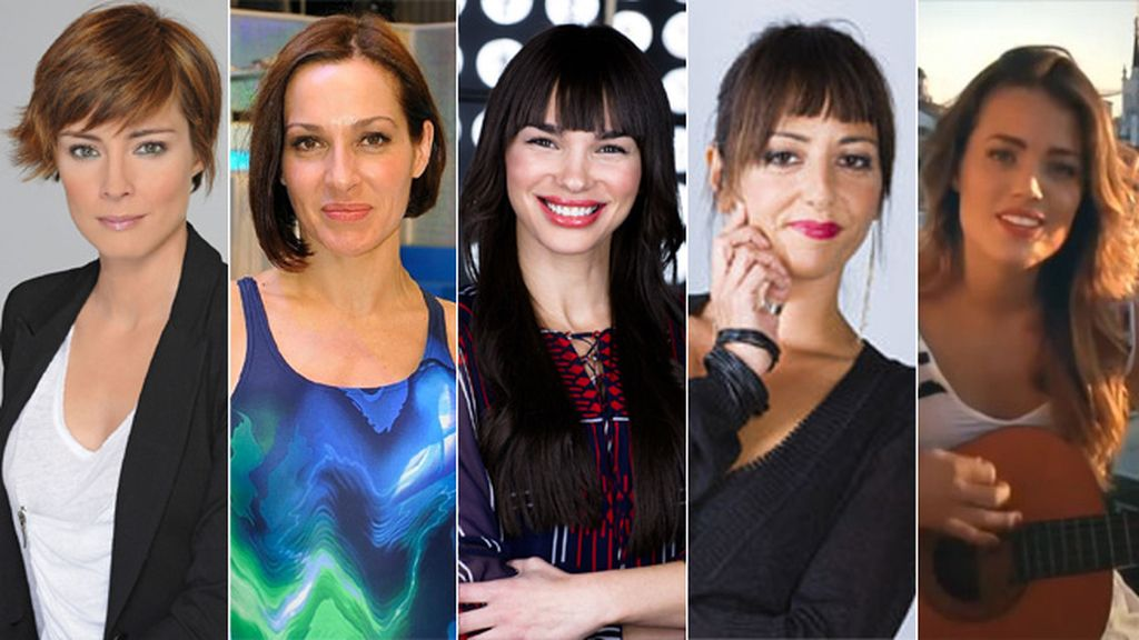 Sandra Barneda, Natalia Millán, Beatriz Montañez, Yolanda Ramos y Alyson Eckmann