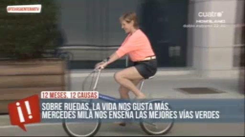 Mercedes Milá nos recomienda una Vía Verde para pedalear en tu bici