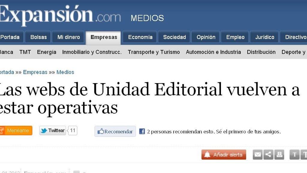 Ciberataque Unidad Editorial