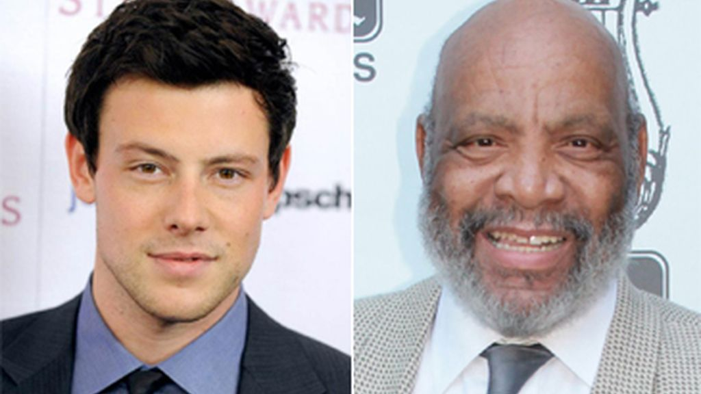 Cory Monteith & James Avery