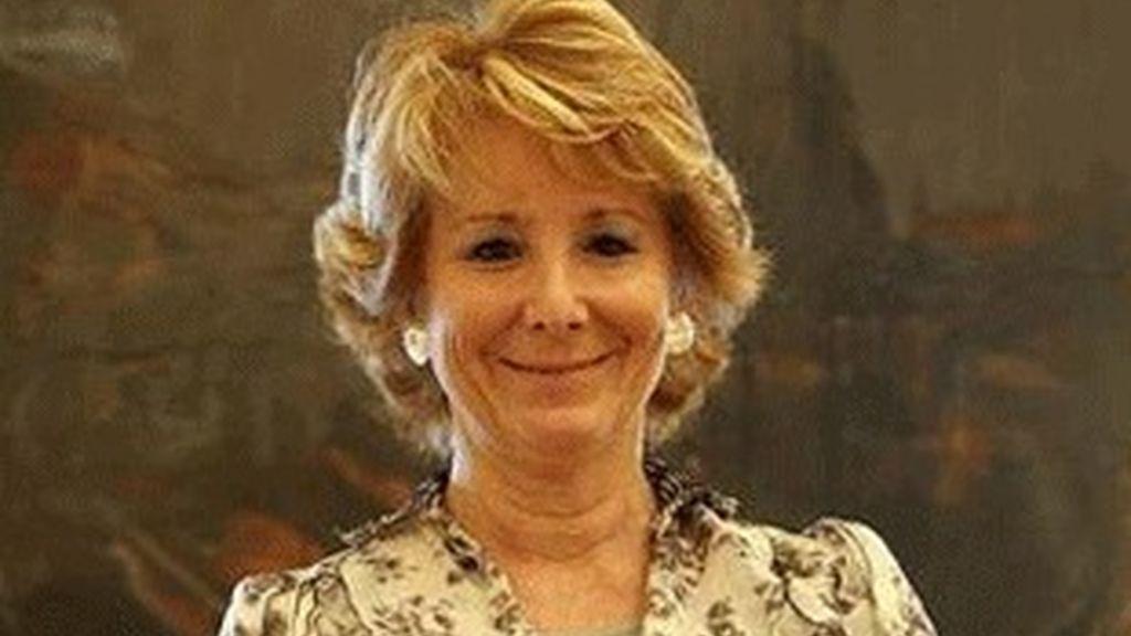 Esperanza Aguirre, presidenta de la Comunidad de Madrid.