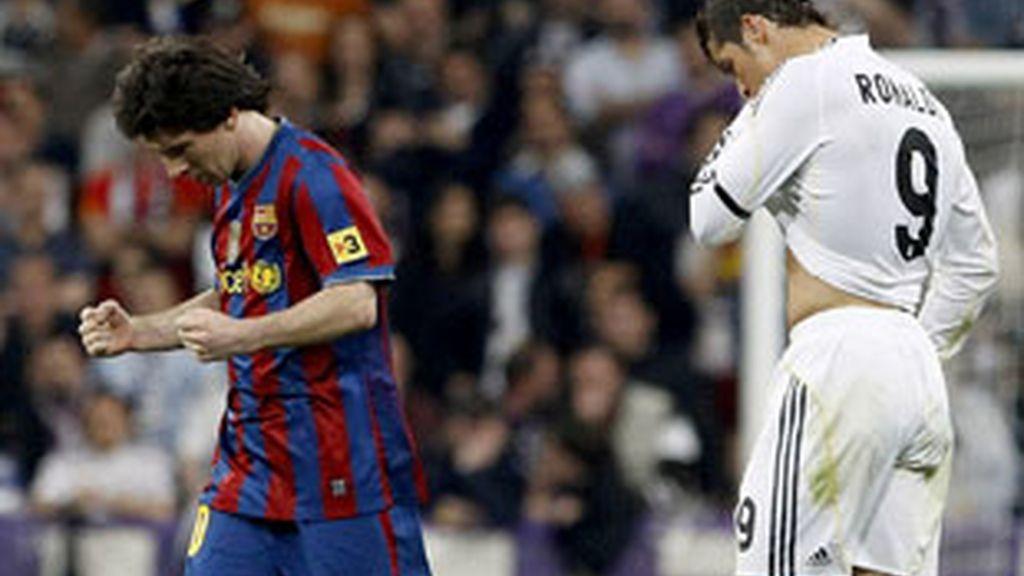 Messi y Cristiano Ronaldo, en el último derby.