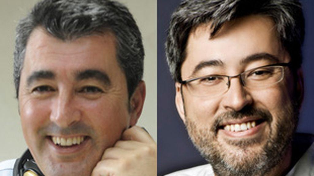 Javier Hoyos (izquierda) y Juanma Ortega, nuevos director y animador, respectivamente, de 'Carrusel deportivo'.