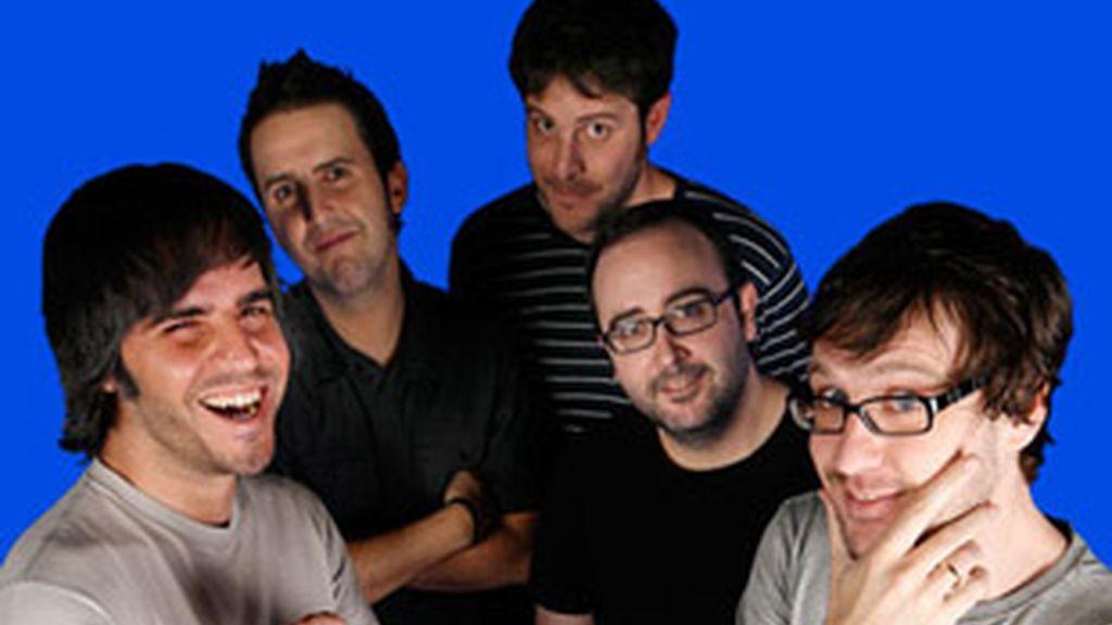 De izquierda a derecha, Ernesto Sevilla, Julián López, Raúl Cimas, Carlos Areces y Joaquín Reyes.