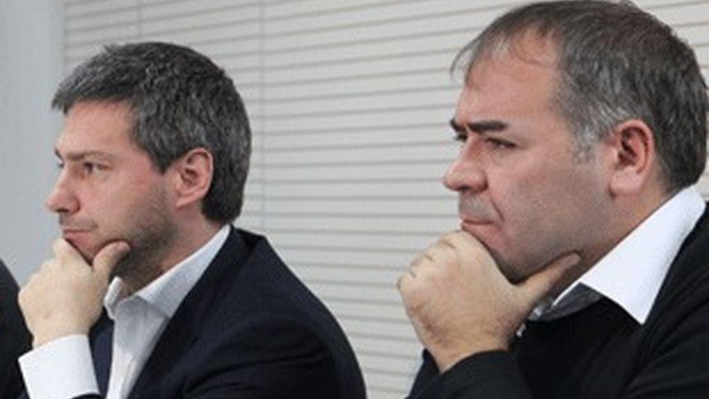 De izquierda a derecha, Giovanni Rier, consejero delegado de Publiseis, y Antonio G. Ferreras, director de La Sexta.