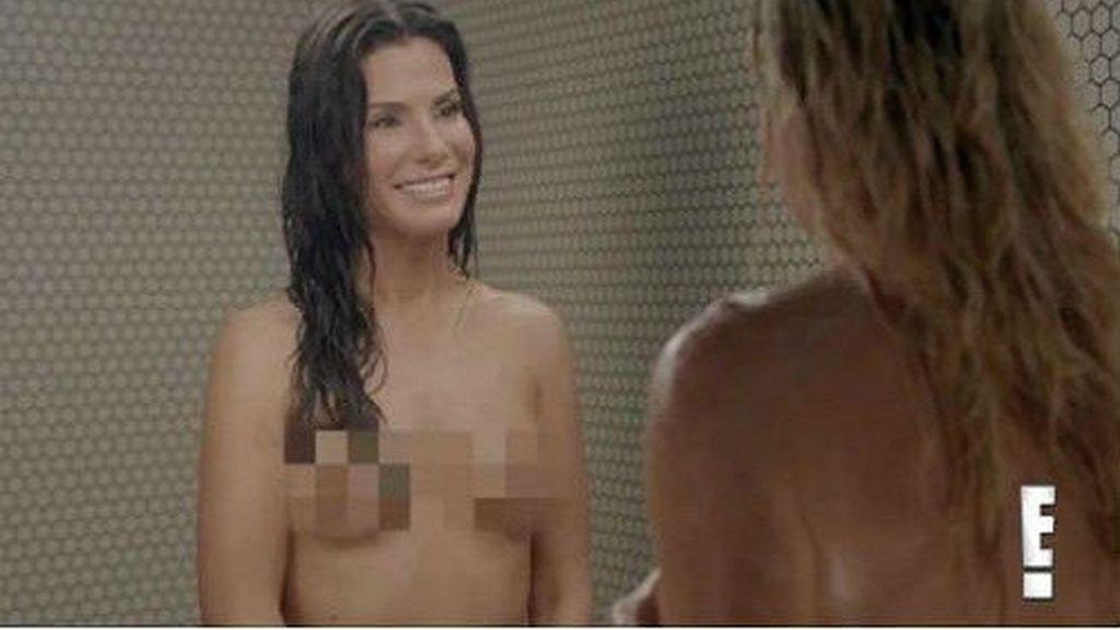 Sandra Bullock se desnuda en un programa de televisión