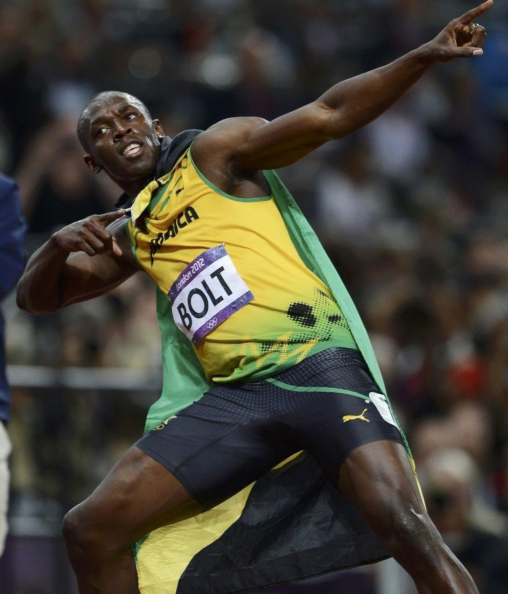 Victoria de Usain Bolt en los JJOO de Londres 2012
