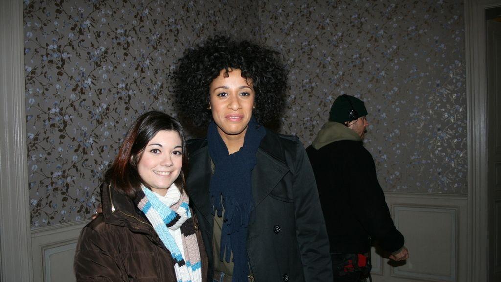 Andrea Vargas y la actriz Lara Rossi