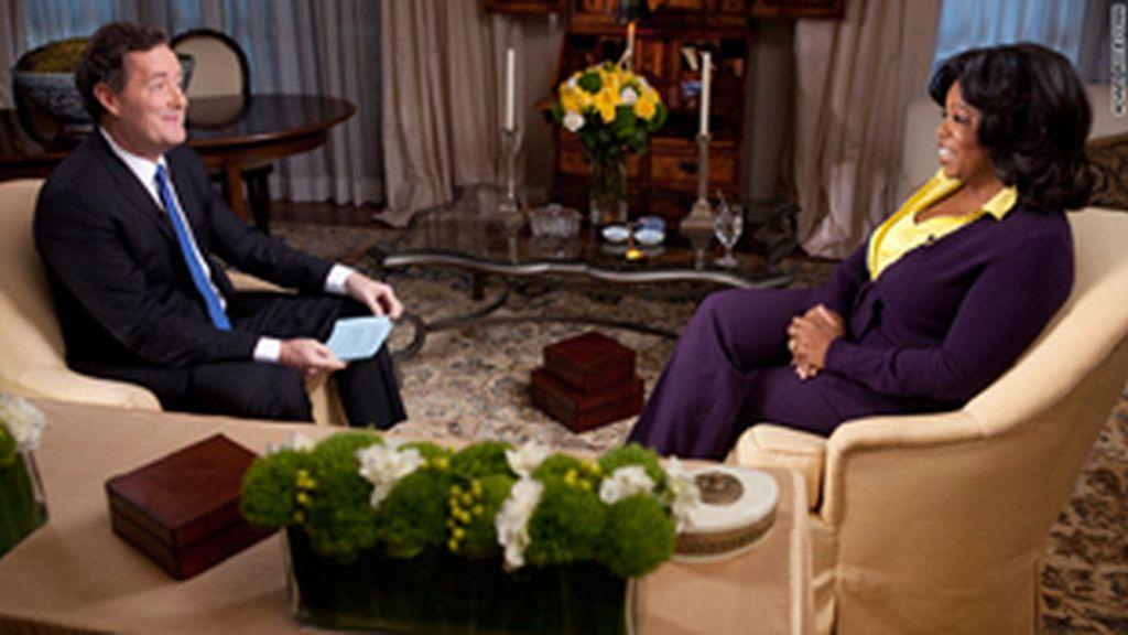 Piers Morgan con Oprah Winfrey.