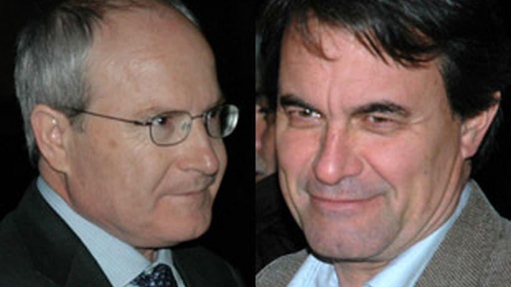 José Montilla(PSOE) y Artur Mas (CiU), aspirantes a la presidencia de la Generalitat de Cataluña.