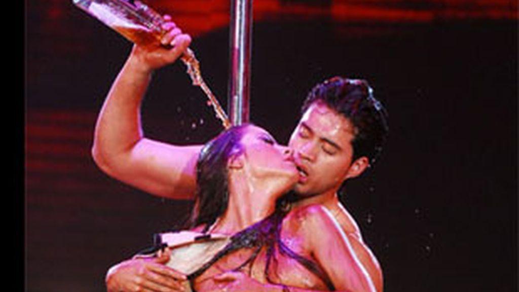 Una imagen del 'baile del caño' de 'Showmatch'.