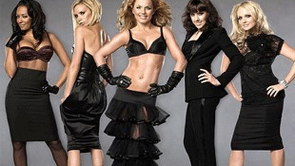 Las componentes del grupo Spice Girls.