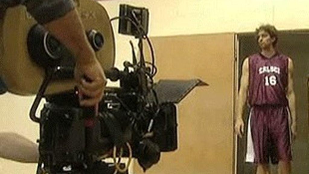 Pau Gasol, en la grabación de 'Numbers'.