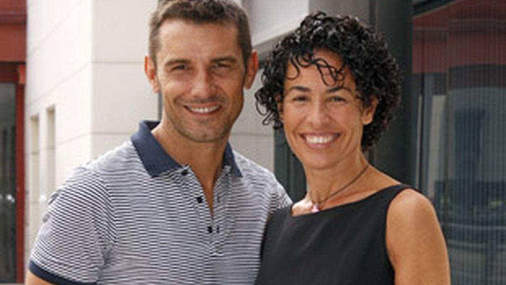 Jesús Vázquez y Nina.