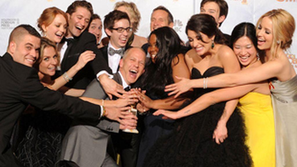 El elenco de 'Glee' en la entrega de premios de 2010, cuando se proclamó mejor comedia del año.