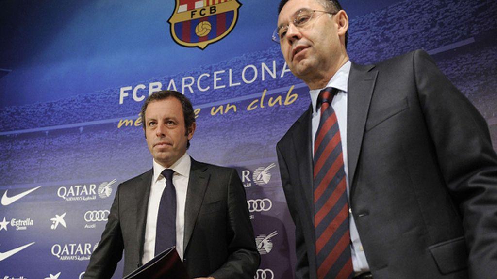 Sandro Rosell & Josep María Bartomeu