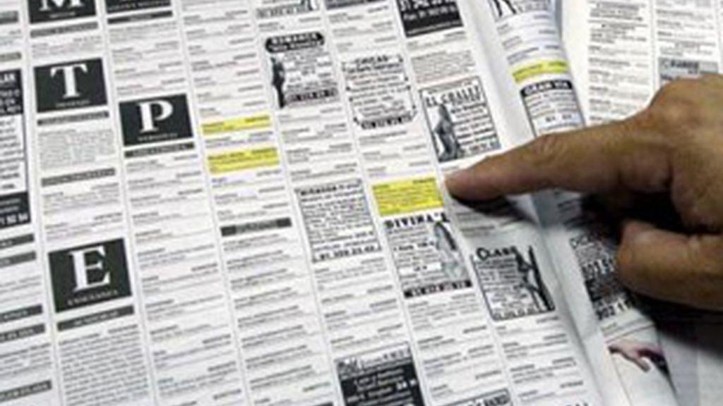 Imagen de anuncios de contactos.
