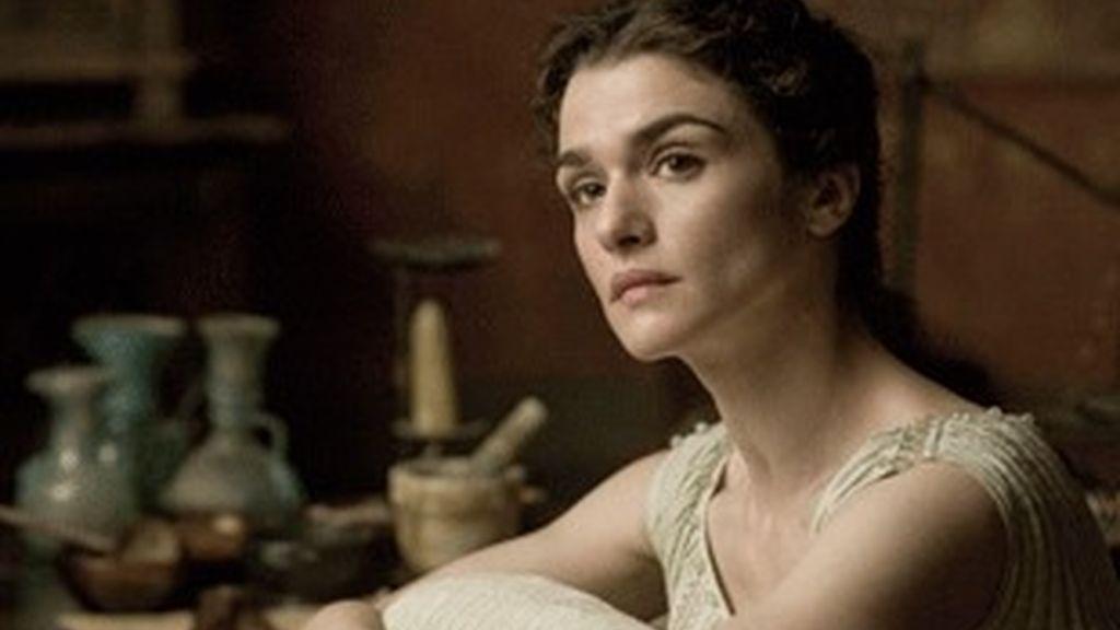 Rachel Weisz, caracterizada como Hipatia en 'Ágora'.