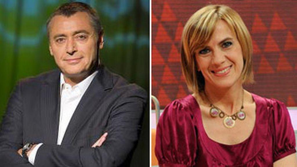 Michael Robinson y Gemma Nierga