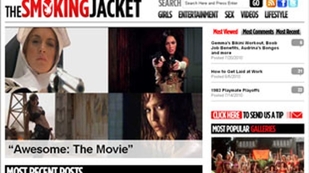 'The Smoking Jacket', nueva página web de la revista 'Playboy'.