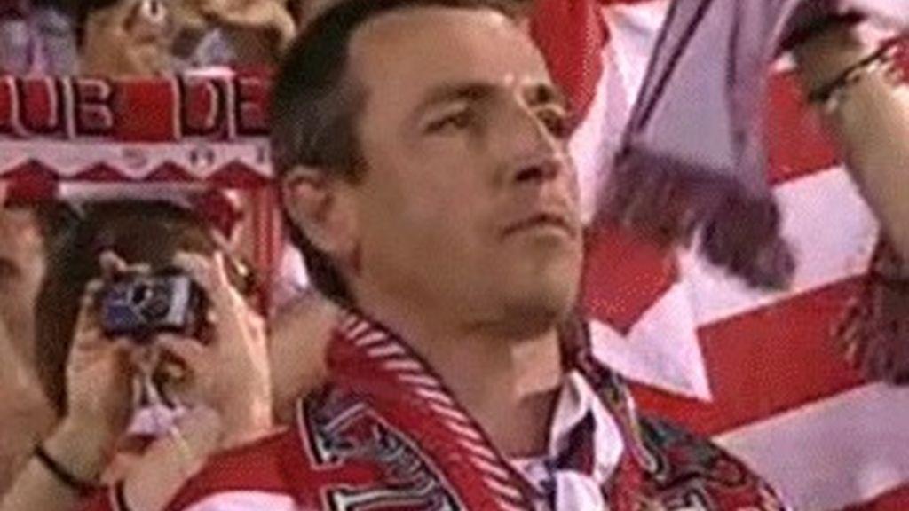 Un aficionado del Athlétic, en la final de la Copa del Rey.