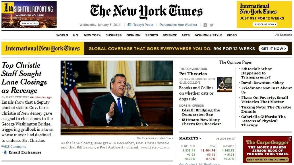 'The New York Times' renueva su diseño web