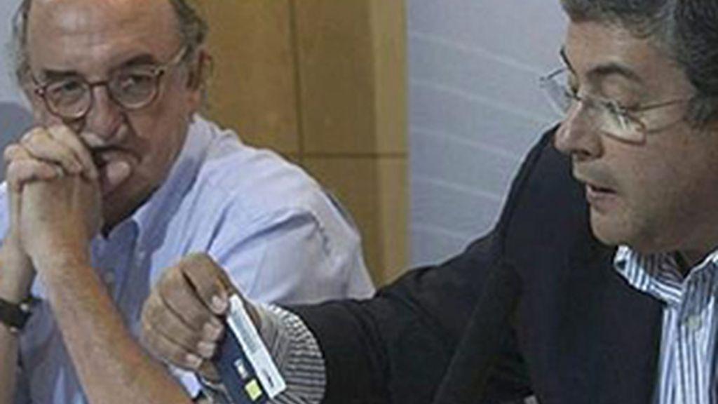Jaume Roures (izquierda) y José Joaquín Brotons.