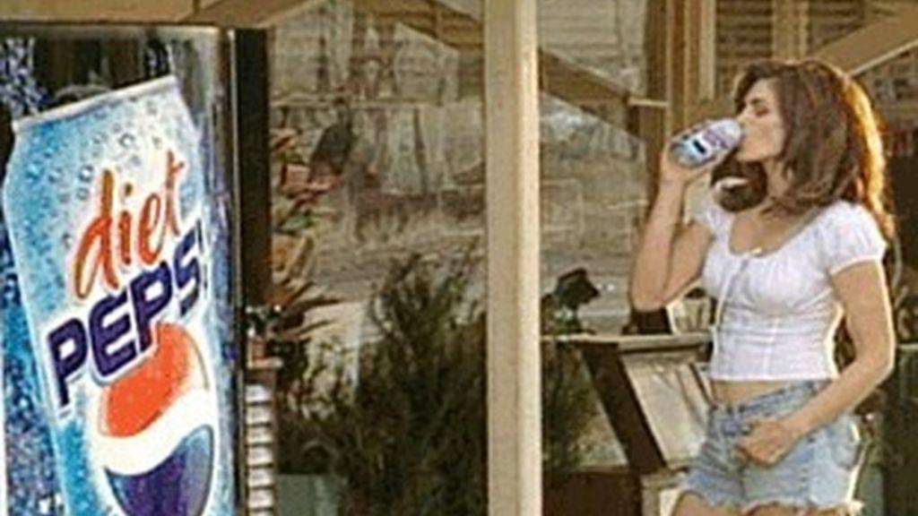 Cindy Crawford en una de las campañas de Pepsi.