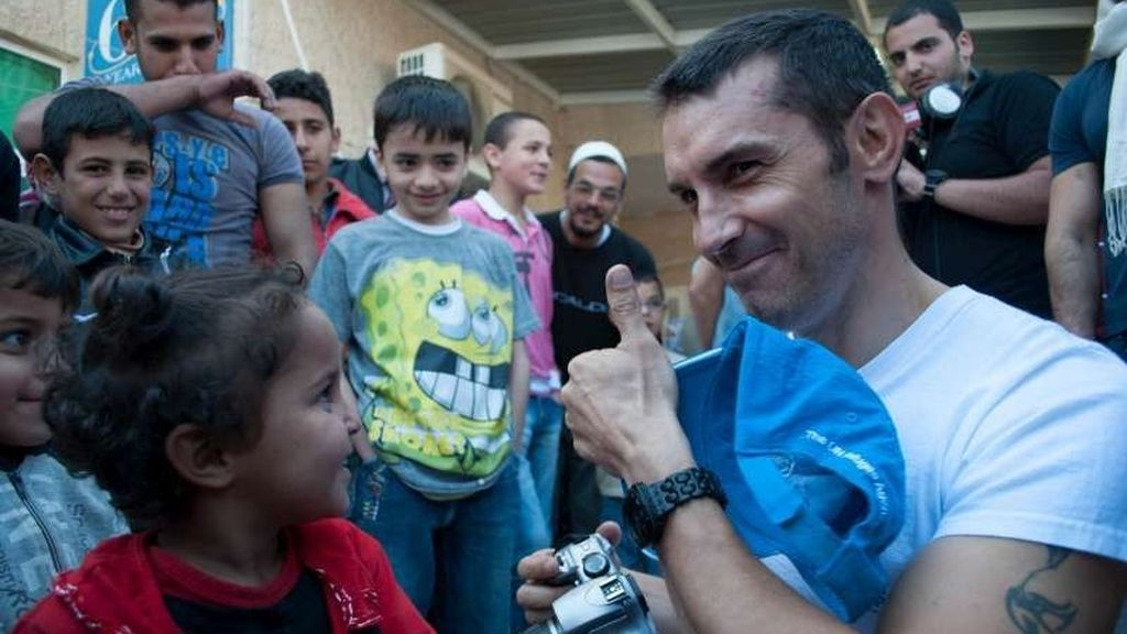 Jesús Vázquez en Siria con Acnur
