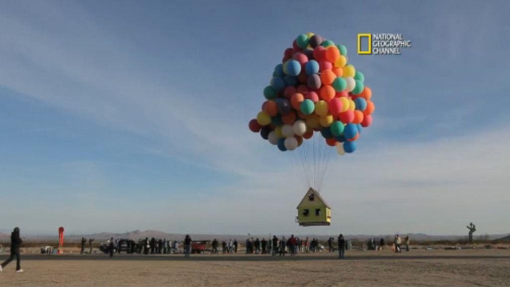 Una casa voladora al estilo 'up'