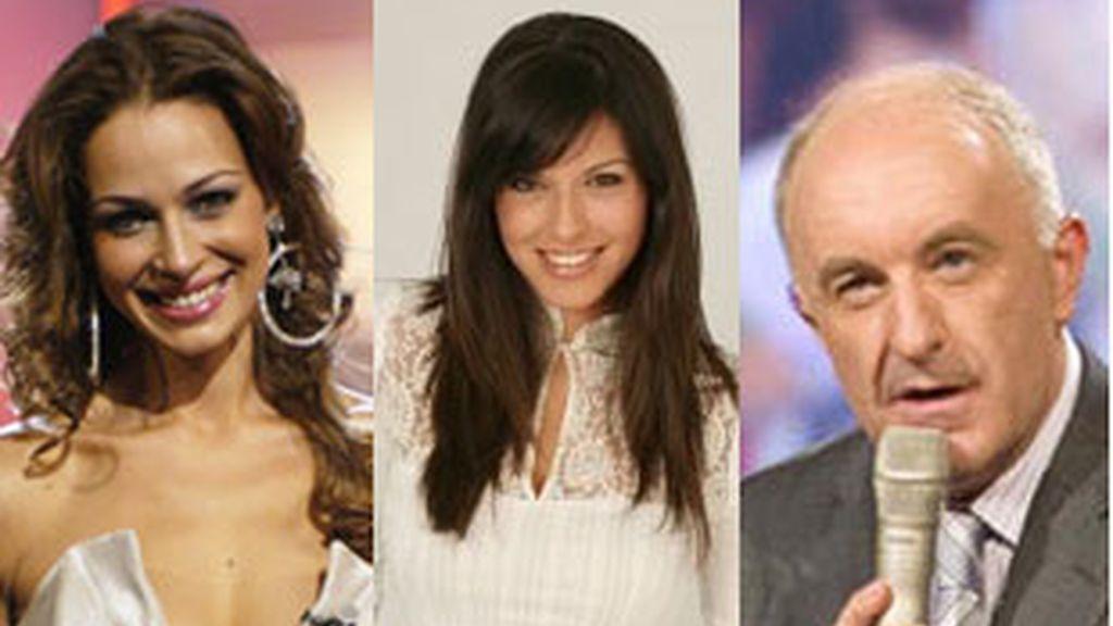 Los presentadores Eva González ('Se llama copla'), Eloísa González ('En clave de ja') y Xosé Ramón Gayoso ('Luar').