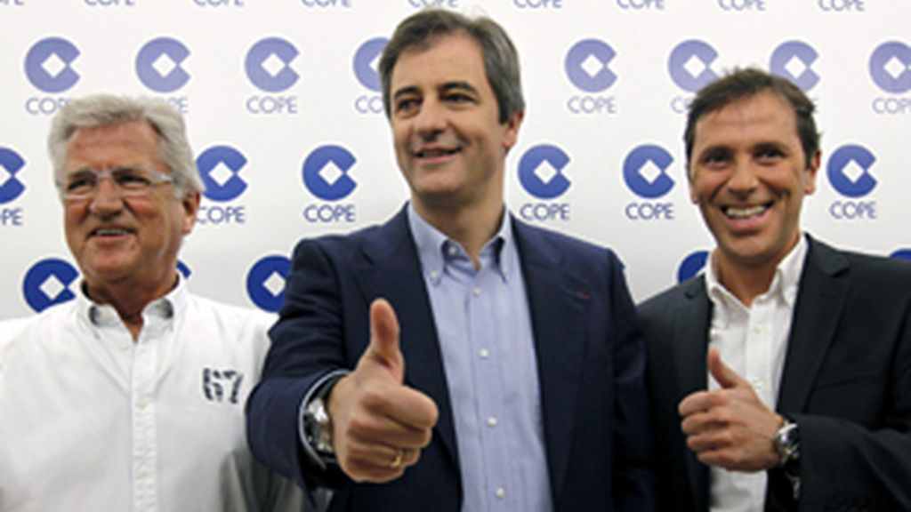 De izquierda a derecha, Pepe Domingo Castaño, Manolo Lama y Paco González.