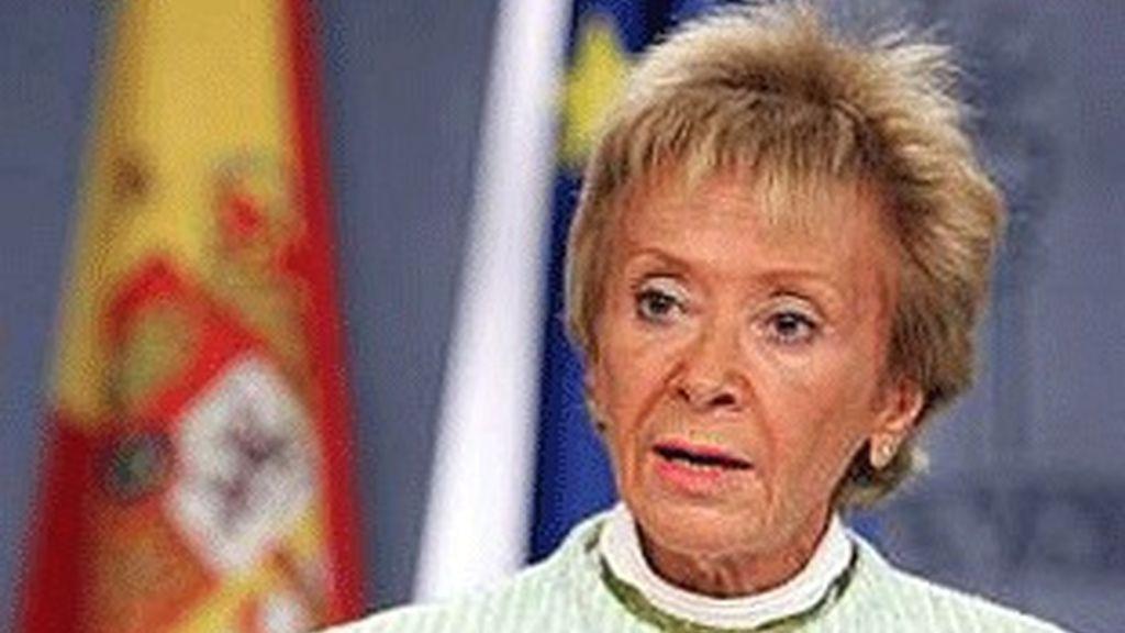 La vicepresidenta del Gobierno, María Teresa Fernández de la Vega.