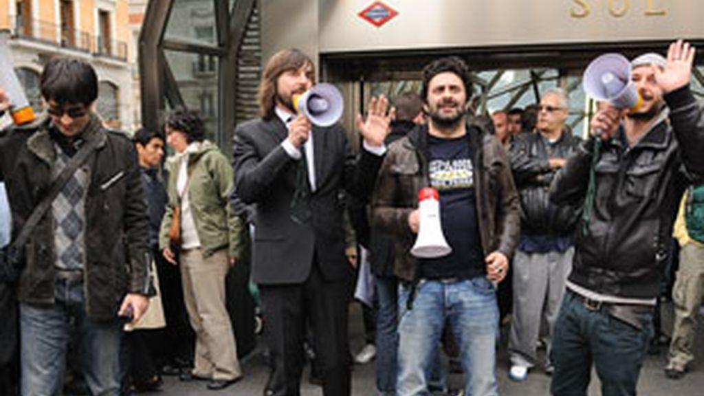 Santi Millán durante la presentación de su programa en el intercambiador de Sol de Madrid.