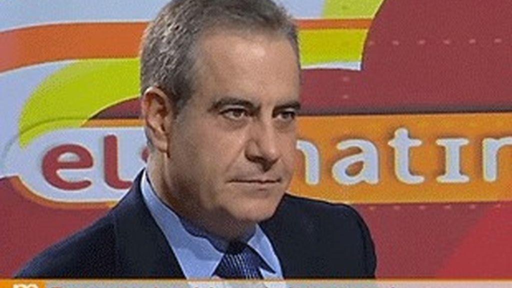 El ministro de Trabajo, Celestino Corbacho, en 'Els matins', de TV-3.