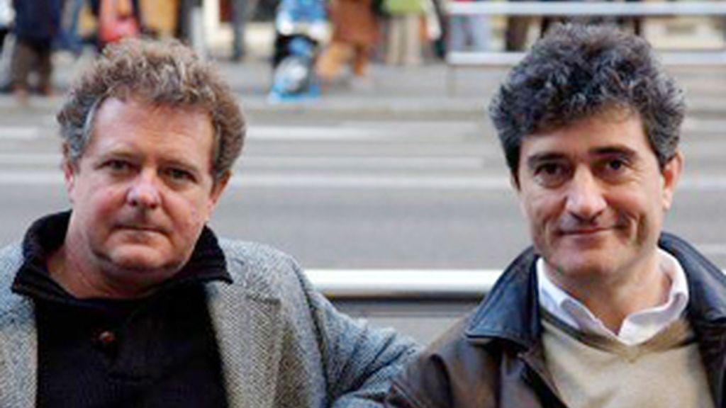 Juan Luis Cano (izquierda) y Guillermo Fesser, el dúo 'Gomaespuma'.