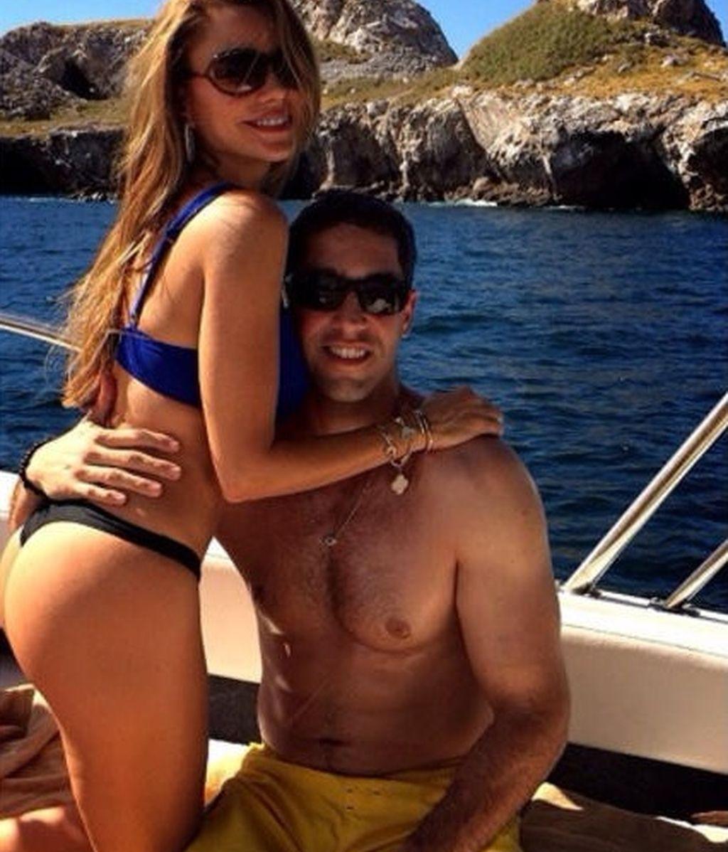 Sofía Vergara y su  novio Nick Loeb
