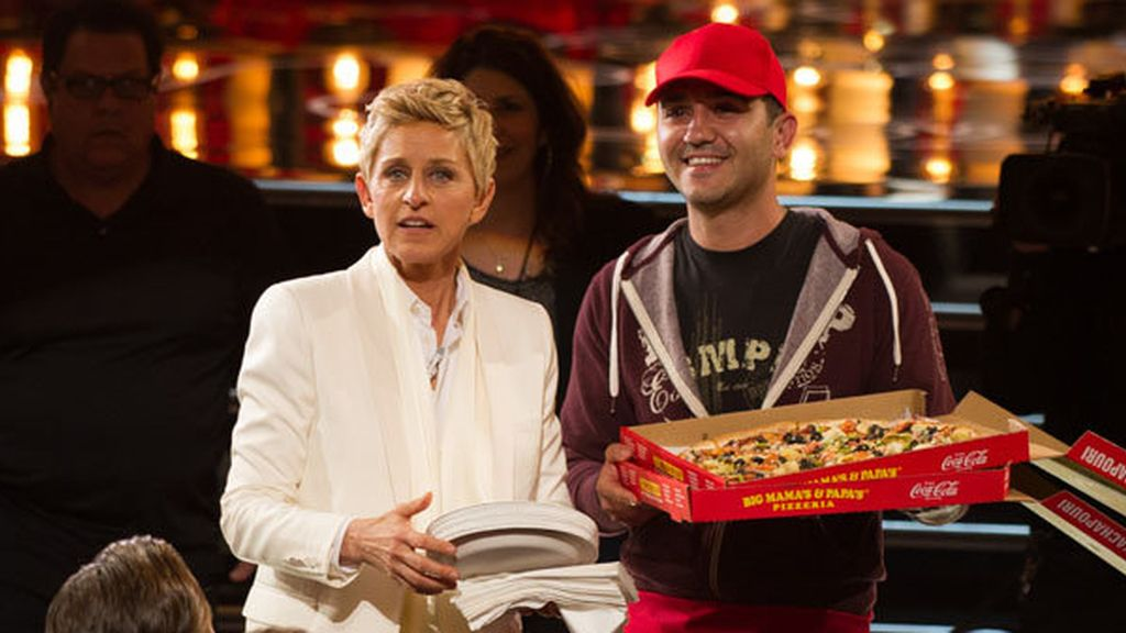 Gala Oscar Ellen DeGeneres pizza