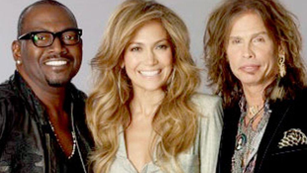 Randy Jackson, Jennifer López y Steven Tyler.